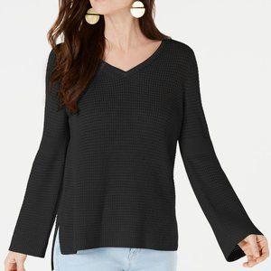 NWT NEW Style & Co Cotton Waffle-Stitch Sweater XS